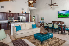 Blue Coral Dining and Living Area